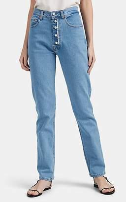 Couture Forte Dei Marmi Women's Pearl-Fly Slim-Straight Jeans - Blue