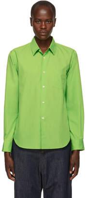 Comme des Garcons Green Cotton Poplin Shirt