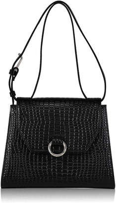 Joanna Maxham Lady O Black Crocodile Shoulder Bag