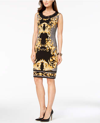 JM Collection Printed Sheath Dress