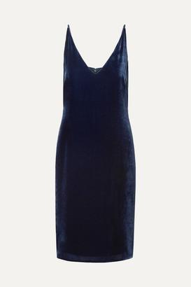 L'Agence Constance Velvet Dress - Navy