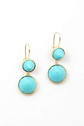 At Tiques Wild Lilies Jewelry Turquoise Drop Earrings