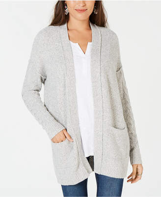 Style&Co. Style & Co Marled Open-Front Cardigan