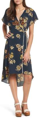 Leith Floral Wrap Dress