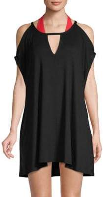 Robin Piccone Calista Cold-Shoulder Mini Dress
