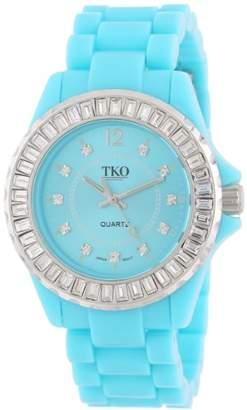 TKO ORLOGI Women's TK608-TQ Ceramix-Ice Turquoise Acrylic Crystallized Watch