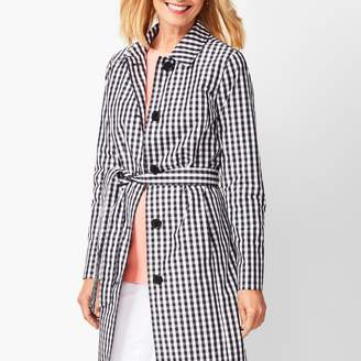 Talbots Gingham Trench Coat
