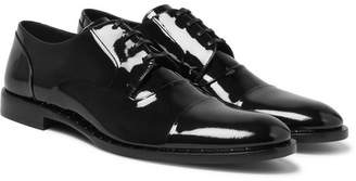 Dolce & Gabbana Patent-Leather Derby Shoes - Men - Black
