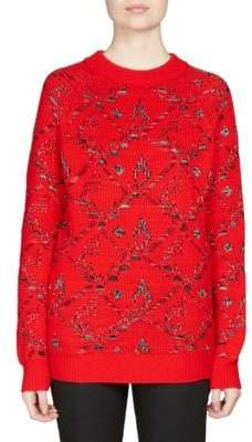 Saint Laurent Jacquard Tapestry Flower Sweater