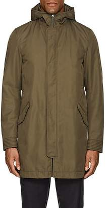 Herno MEN'S COTTON TWILL HOODED PARKA