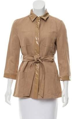 Max Mara Belted Woven Jacket