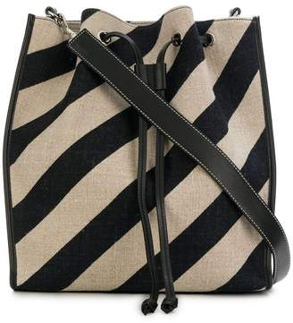 J.W.Anderson striped drawstring bucket bag