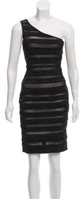Jovani Embellished One-Shoulder Dress