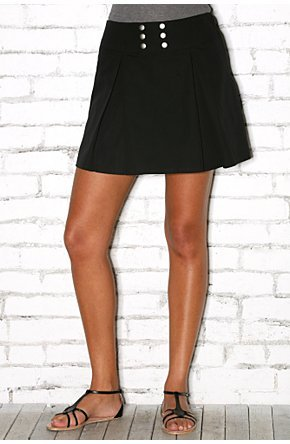 Lux Pleated Bustle Back Skirt