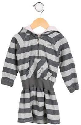 Armani Junior Girls' Striped Knit Dress