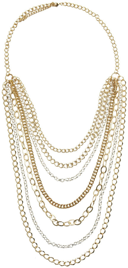 Long Multi Row Necklace