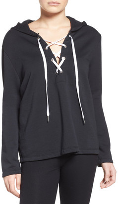 The Laundry Room Lace-Up Hoodie $112 thestylecure.com
