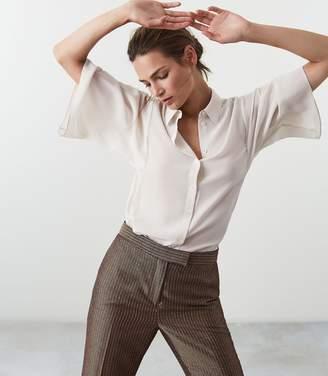 Reiss Guila Silk Wide Sleeved Shirt