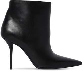 Saint Laurent 95mm Pierre Leather Ankle Boots