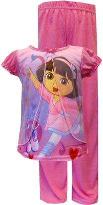 WebUndies.com Nickelodeon Dancing Dora Toddler Pajama for Little Girls
