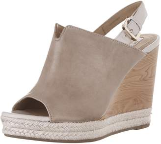 Geox Women's D JANIRA F Heeled Sandal, Curry/Brown