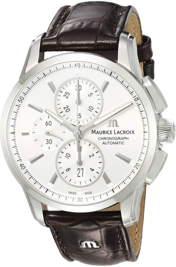 Maurice Lacroix Men's PT6388-SS001-130-1 Pontos Analog Display Swiss Automatic Brown Watch