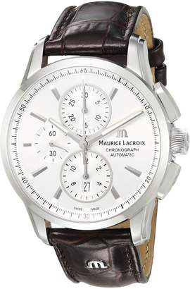 Maurice Lacroix Men's PT6388-SS001-130-1 Pontos Analog Display Swiss Automatic Brown Watch