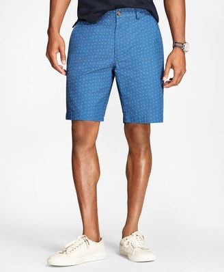 Brooks Brothers Ditsy-Print Cotton-Twill Shorts