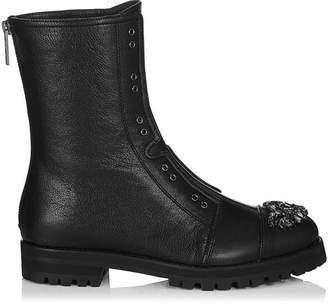 Jimmy Choo Hatcher Leather Combat Boots