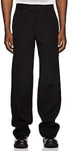 Helmut Lang Men's Wool Twill Straight-Leg Trousers - Black