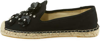 Patricia Green Canvas Flower Platform Espadrille