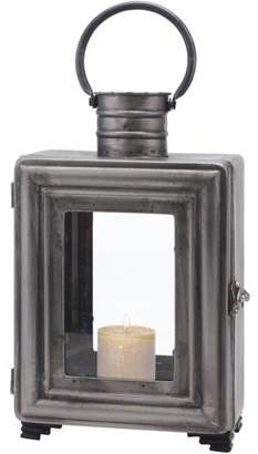 Stonebriar Pewter Metal Industrial Candle Holder with Handle
