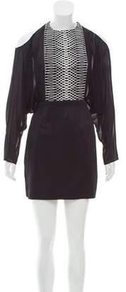 Sass & Bide Cold-Shoulder Mini Dress