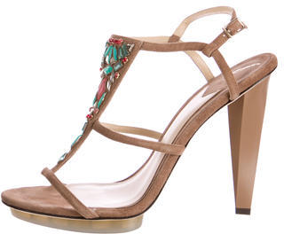 B Brian Atwood Donosa Jewel Embellished Sandals $120 thestylecure.com
