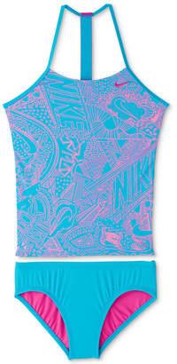 Nike Big Girls 2-Pc. Doodle T-Back Tankini