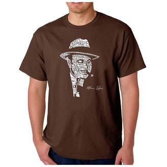 Capone LOS ANGELES POP ART Los Angeles Pop Art Short Sleeve Word Art T-Shirt-Men's Big and Tall