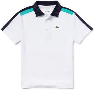 Lacoste Boys' SPORT Contrast Bands Pique Tennis Polo