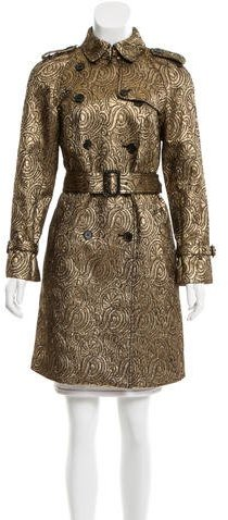 3.1 Phillip Lim 3.1 Phillip Lim Brocade Trench Coat