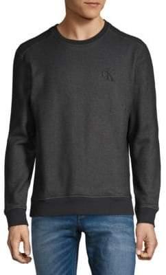 Calvin Klein Jeans Rib-Trimmed Sweatshirt