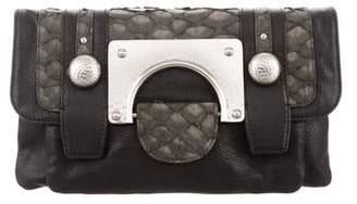 Diane von Furstenberg Leather Snap Clutch