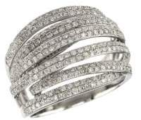 Effy 14K White Gold & 0.42 TCW Diamond Ring