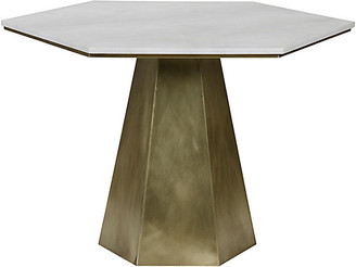 Noir Demetria Dining Table - Antiqued Gold