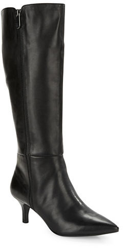 Anne KleinAnne Klein Fedya Leather Knee-High Boots