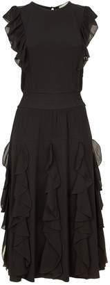 MICHAEL Michael Kors Ruffle Trim Midi Dress