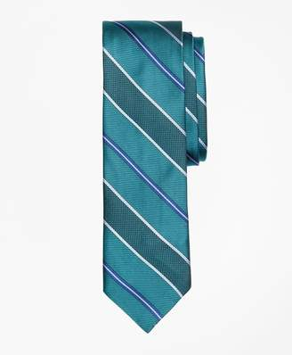 Brooks Brothers Alternating Stripe Textured Silk Tie