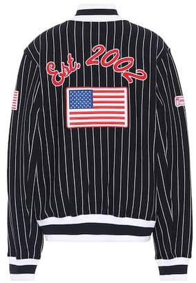 Opening Ceremony Striped cotton varsity jacket