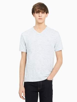 Calvin Klein big + tall heathered v-neck t-shirt