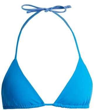 Mara Hoffman Rae Triangle Bikini Top - Womens - Blue