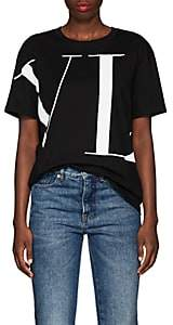 Valentino Women's Logo Cotton T-Shirt - Black