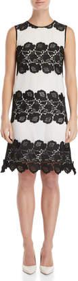 Les Copains Lace Striped Shift Dress
